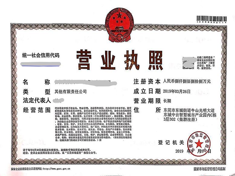 东莞市各行贷款代理(广东)有限公司